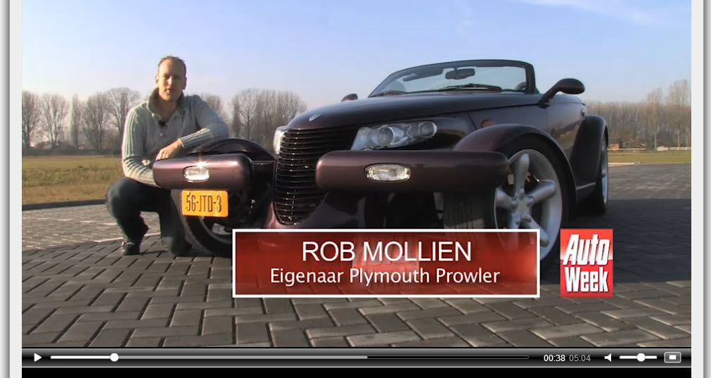 autoweek video · the rock drives a chrysler prowler!